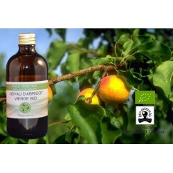 Huile végétale d'abricot bio revitalise et rend éclat à la peau 100 ml