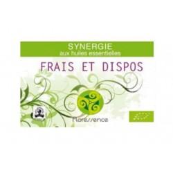 Synergie huiles essentielles frais et dispo pour la fatigue physique 100% pure, naturelle et bio