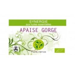 Synergie huiles essentielles apaise gorge, maux de gorge & angine 100% pure, naturelle et bio