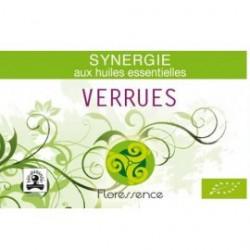 Synergie huiles essentielles élimine les verrues 100% pure, naturelle, et bio