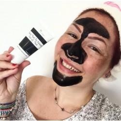 Masque visage exfoliant au charbon végétal (noir) bio