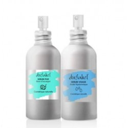 Dusahel duo anti âge & hydratation intense : 1 sérum 100 % bave d'escargot bio + 1 sérum acide hyaluronique