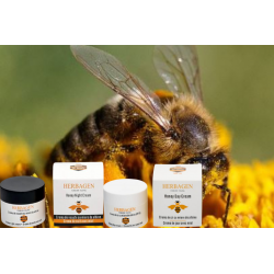 Duo crème de jour hydratante et crème de nuit à base de miel bio