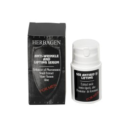 Herbagen sérum visage anti-rides, liftant à l'extrait de bave d'escargot, venin de vipère et aloe pour homme 50 gr