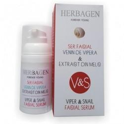Herbagen sérum visage venin de vipère et bave d'escargot 99% naturel 30 gr